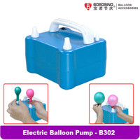 B302 800W Electric Balloon Inflator Pump Inflatable Electric Balloon Pump Household Portable Air Blower with Two Nozzles Dual Po