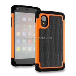Wholesale 3 in 1 football profile silicone protective case for LG Nexus5