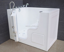 Walk-in Acrylic Sitting Bathtub/Sitting Bathtub with Door with Faucet