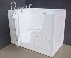 Walk-in Acrylic Sitting Bathtub/Sitting Bathtub with Door with Faucet