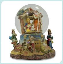 Divine Nativity jesus Scene Religious Music Box Water Snow Globe Figurine