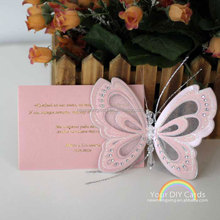 Wholesale popular 3D Butterfly Wedding Invitations