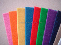 colorful recycled pet felts needle punched nonwoven