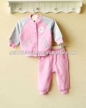 mom and bab 2012 Autun baby wear set 100% cotton jacket pants