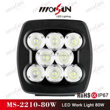 2015 new Morsun12v led tractor work light! high lumen 80watt led work lamp, square flood 80w led worklights for truck