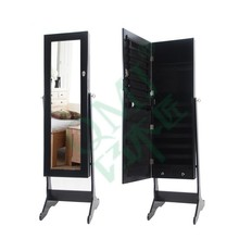 Large Standing Mirror with Stand Jewelry Organizer