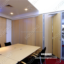 cheaper doors of sliding movable partition with melamine for hotel