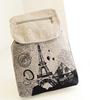 2015 Cute Vintage Style Eiffel Tower Printing Canvas School Backpack Bag Travel Satchel Bag Rucksack For Girls Women Teens