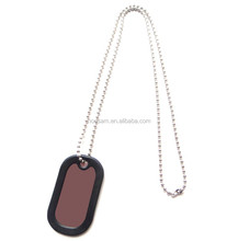Promotional Dog/Pet Tag with Ball Chain, Made of Metal+quality silicone with Printed Logo