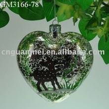 hanging glass heart shaped