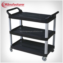 Multifunctional Plastic Food Collection Service Trolley/Dish Handcart/Utility & Catering Cart