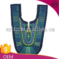 Hot sell embroidery neckline designs for blouse WTA173