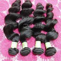 loose wave virgin hair cheap wholesale natural color virgin brazilian human hair sew in weave