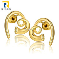 latest trends jewelry gold beautiful bridal earrings GPE1005-A