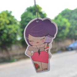 lovely doll hanging paper car air freshener, car perfume wholesale