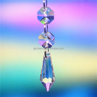 1pc 41mm Clear Lamp Prisms Part Decoration Hanging Drop Pendant With 6 Beads