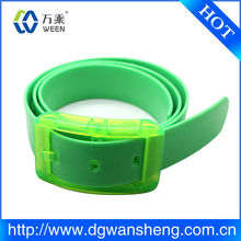 Rubber Silicone Fruity Candy Color Jelly Jam Fashion Recycled Belt Plastic