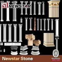 Newstar natural marble gate pillar design