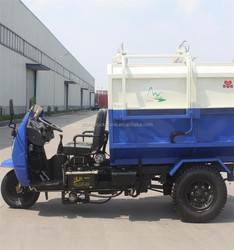 3 cbm Motor Tricycle Dump Garbage Cart