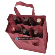 Wholesale one bottle OEM/ODM 6 bottle Wine Bag
