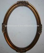 De la pu ovalada ( de poliuretano ) polupar palo en espejo de la pared