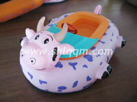 Animal Shape inflatable motor bumper boat for kids