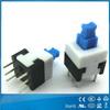 High quality electronic switch 6 pin 50mA 12V miniature push button switch