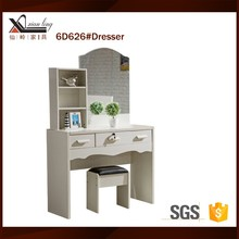 6D626#Modern Dresser With Mirror and Chair