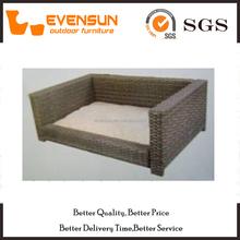 Classic Sofa Shape Rattan Dog Bed Wicker Furniture