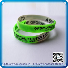 Global Supply China Silicone Wristband Solid Color Silicone Wristbands,Custom Logo And Texts, High Quality 2014 New Promotional