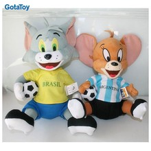 New design custom cute plush toy mouse with basketball