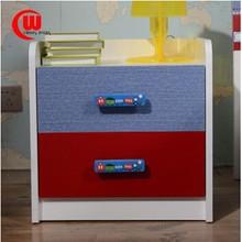 Furniture children bedside white denim blue nightstand