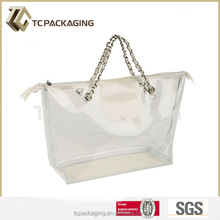 2015 Hot customized PVC fashion ladies handbag at low price