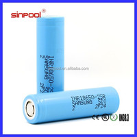 High Quality 18650-25R 2500mAh Samsung 18650 battery max discharge current 20A li-ion wholesale mnke 18650 battery