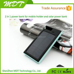 Solar Power Bank universal 12000mah power bank external battery pack