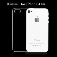 0.3mm Ultra Thin TPU Gel case for iphone 4 / 4s