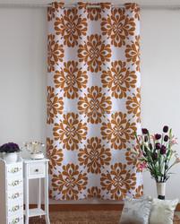 100% polyester popular print design window curtain models