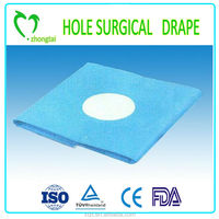 Waterproof non woven Disposable Surgical Hole Drape for Ophthalmic, surgical and medical use