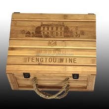 Item HSP110 100% pine matteial wooden wine box for sale, vintage feature wine box ,wine industrial use wooden wine box