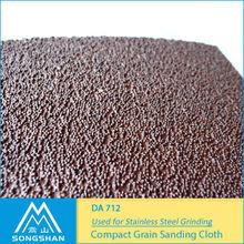Stainless Steel Grinding / Compact Grain Sanding Cloth DA712 / Abrasive Cloth