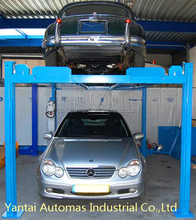 2 levels Four Post elevator parking system/Double stack 4 Post parking system/4 Post Hydraulic car park lift