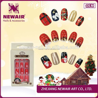 Hot sale fake nail art supplies acrylic nails funny inflatable decorations artificial christmas nail tip