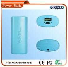 Colorful aluminium case portable power bank for iphone ipad HTC 4000mAh 5200mAH