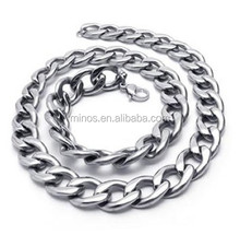 316L Stainless Steel Men's Necklace Link Chain, OEM Production Stainless Steel Chain