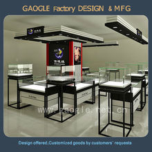 beauty products display cabinets for jewelry shopping mall kiosk display