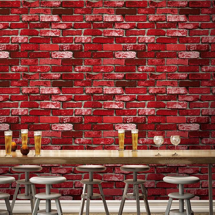 int rieur d coratif pvc mat riel rev tement mural 3d brique conception papier peint pour la. Black Bedroom Furniture Sets. Home Design Ideas