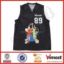 custom sublimation basketball top jerseys