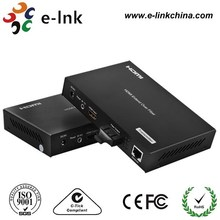 hdmi fiber extender 120m over Ethernet supports 1080P 3D with IR remote control