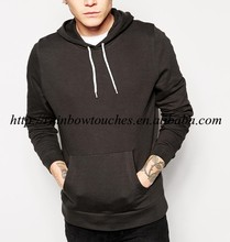 Top pullover casual wear blank black man french terry hoodie