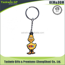 Customized funny duct soft PVC keychain with high qaulity for promotional gift